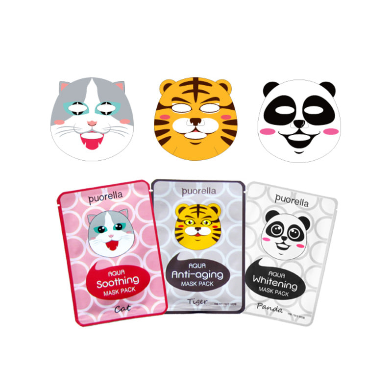 PUORELLA AQUA Animal Mask Pack 3