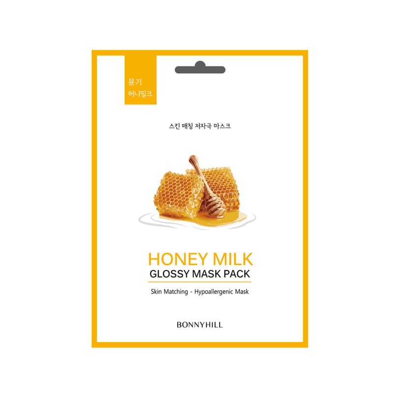 BONNYHILL Honey Milk Glossy Mask Pack