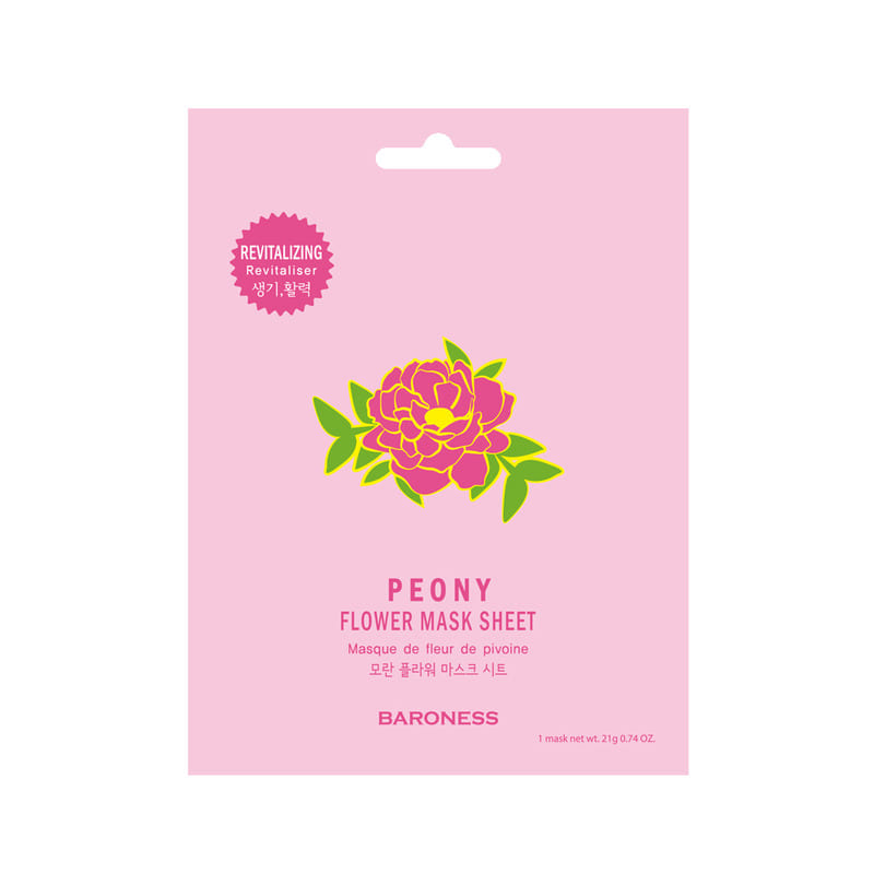 BARONESS Peony Flower Mask Sheet (Revitalizing)