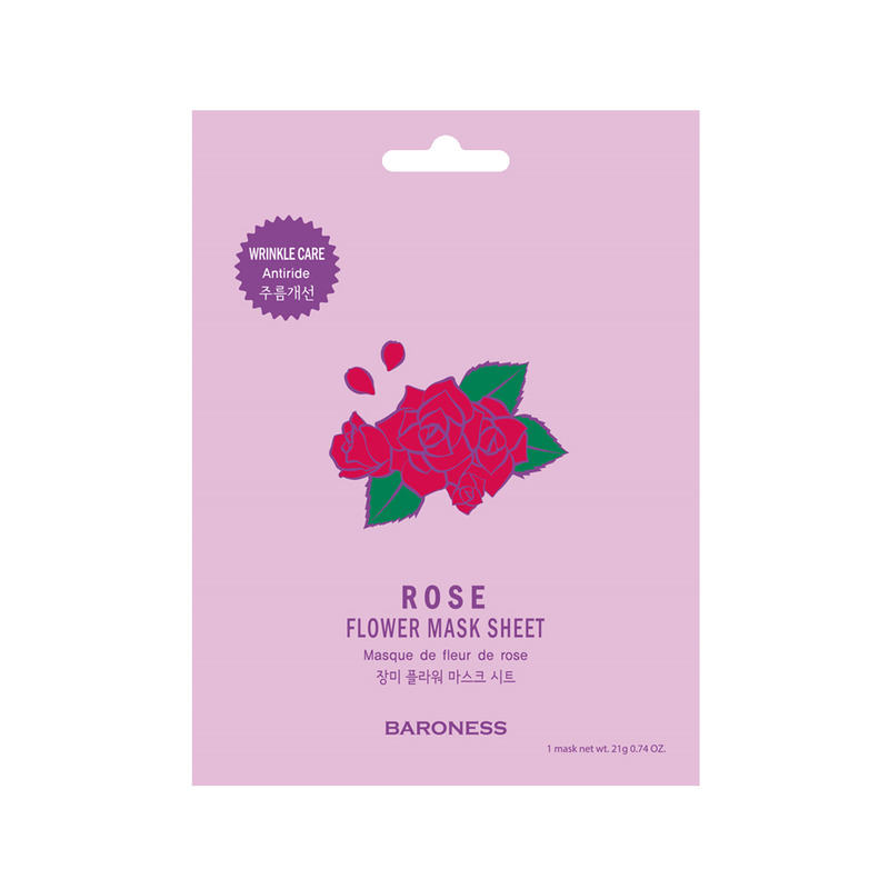BARONESS Rose Flower Mask Sheet (Wrinkle care)